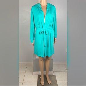 XHILARATION S/M Small Medium Turquoise Bath Robe